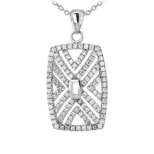 pendentif femme argent zirconium 8301060