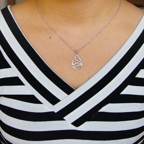 pendentif femme argent zirconium 8301063 pic4