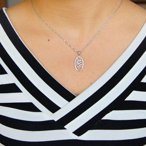 pendentif femme argent zirconium 8301064 pic4