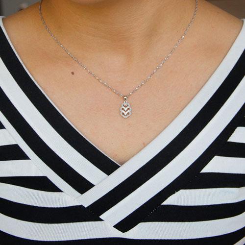 pendentif femme argent zirconium 8301065 pic4