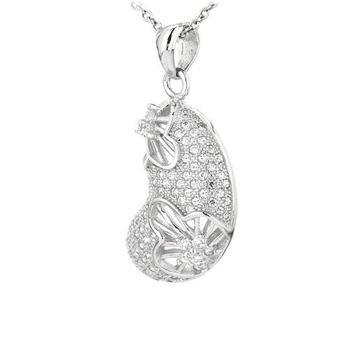 pendentif femme argent zirconium 8301066 pic2