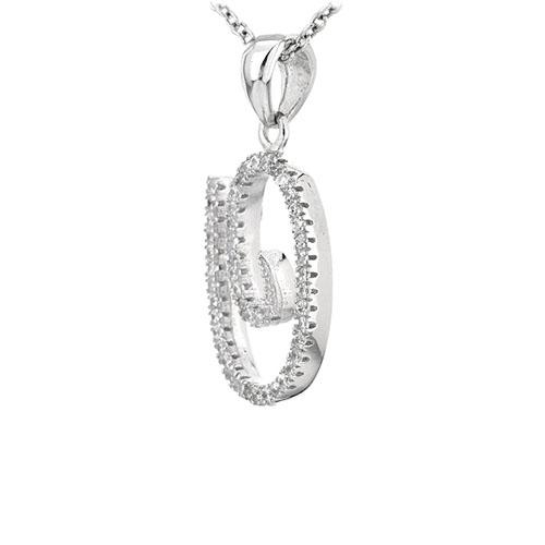 pendentif femme argent zirconium 8301067 pic2