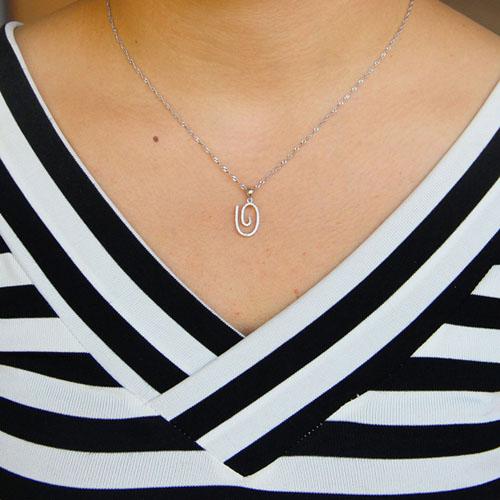 pendentif femme argent zirconium 8301067 pic4