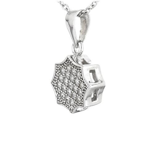 pendentif femme argent zirconium 8301069 pic2