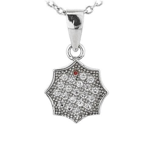 pendentif femme argent zirconium 8301069