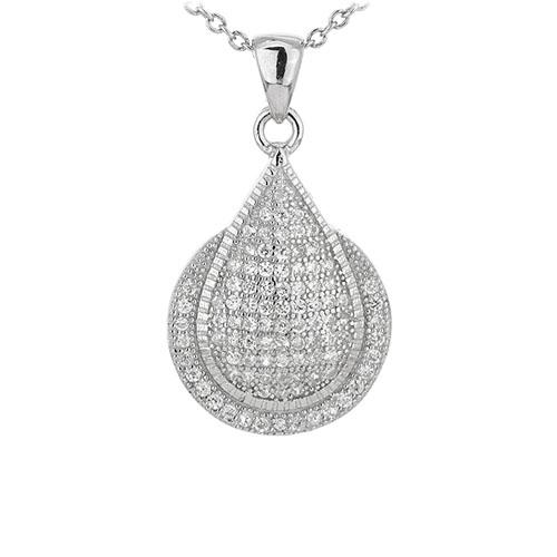 pendentif femme argent zirconium 8301070