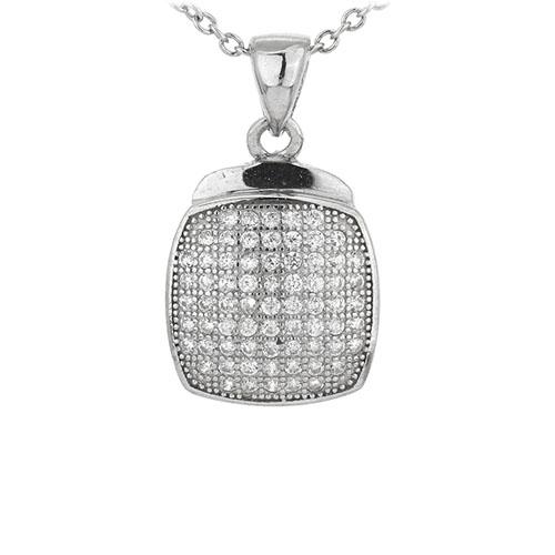 pendentif femme argent zirconium 8301071
