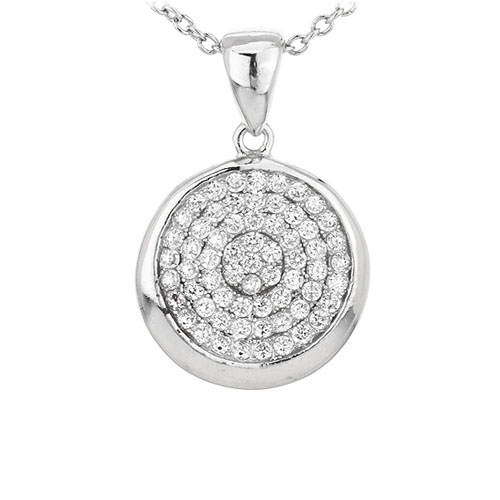 pendentif femme argent zirconium 8301072
