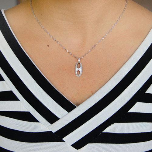 pendentif femme argent zirconium 8301073 pic4