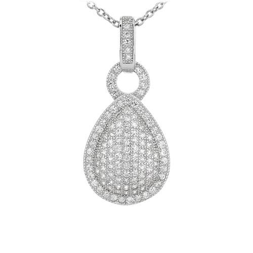 pendentif femme argent zirconium 8301074