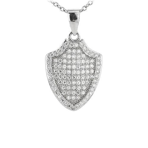 pendentif femme argent zirconium 8301076