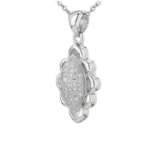 pendentif femme argent zirconium 8301077 pic2