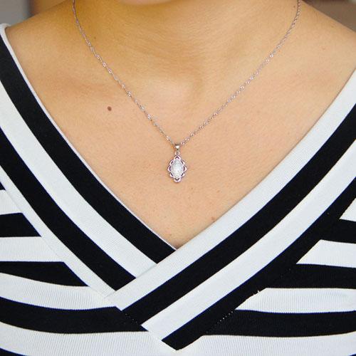 pendentif femme argent zirconium 8301077 pic4