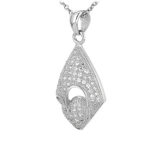 pendentif femme argent zirconium 8301083 pic2
