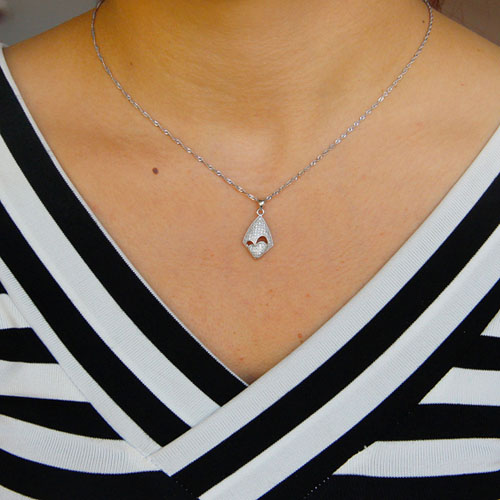 pendentif femme argent zirconium 8301083 pic4