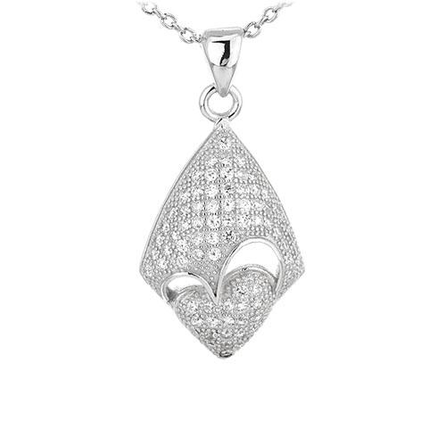 pendentif femme argent zirconium 8301083