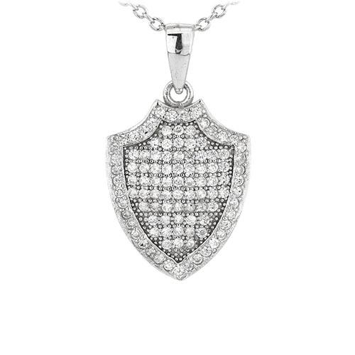 pendentif femme argent zirconium 8301085