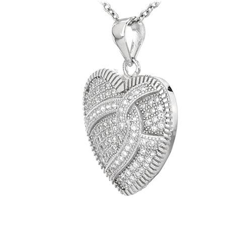 pendentif femme argent zirconium 8301087 pic2
