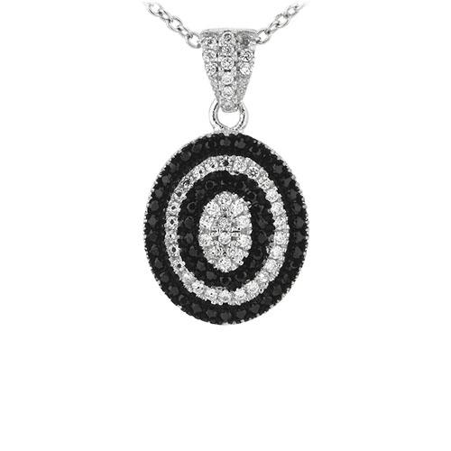 pendentif femme argent zirconium 8301088