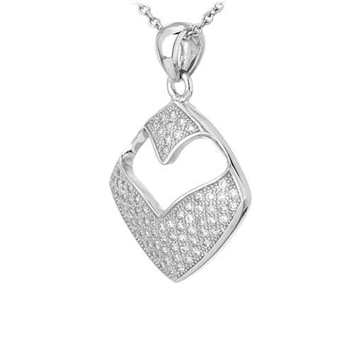 pendentif femme argent zirconium 8301090 pic2