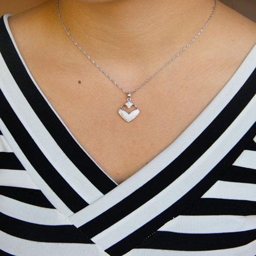 pendentif femme argent zirconium 8301090 pic4