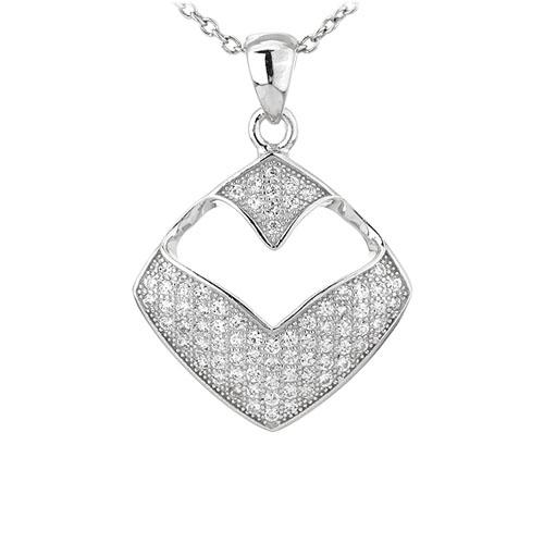 pendentif femme argent zirconium 8301090