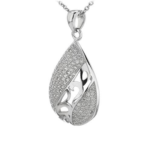 pendentif femme argent zirconium 8301091 pic2