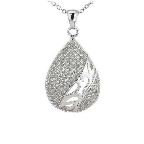 pendentif femme argent zirconium 8301091