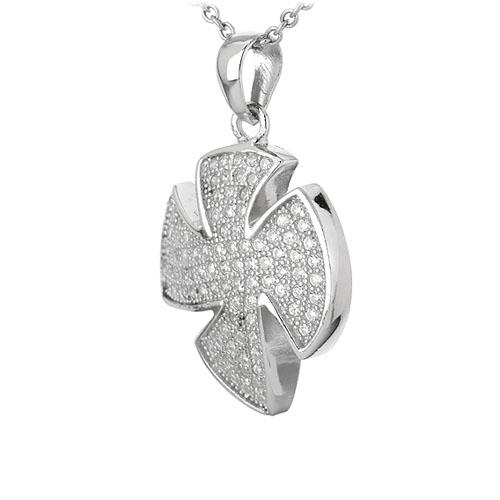 pendentif femme argent zirconium 8301092 pic2