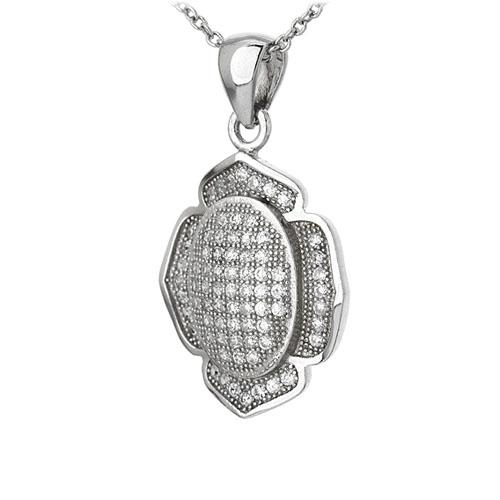 pendentif femme argent zirconium 8301093 pic2