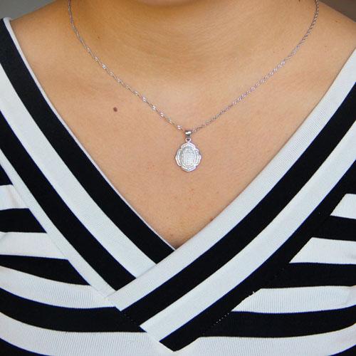 pendentif femme argent zirconium 8301093 pic4