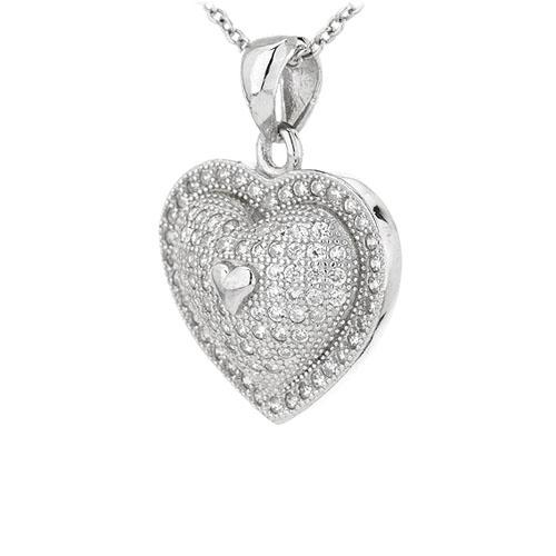 pendentif femme argent zirconium 8301094 pic2