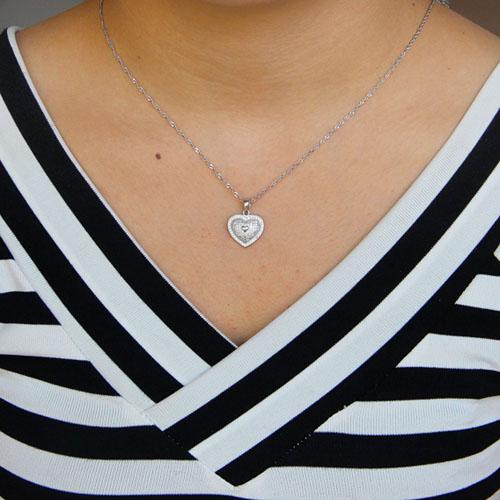pendentif femme argent zirconium 8301094 pic4
