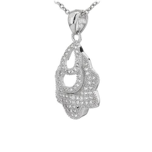 pendentif femme argent zirconium 8301095 pic2