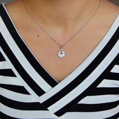 pendentif femme argent zirconium 8301095 pic4