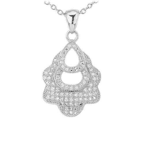 pendentif femme argent zirconium 8301095