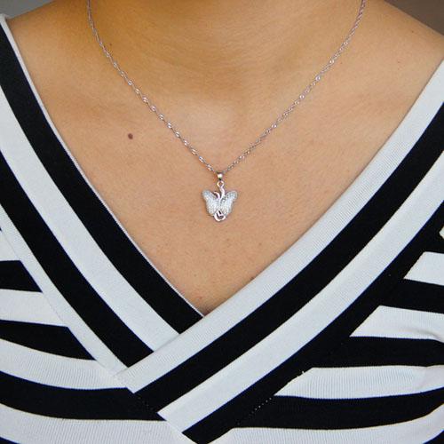 pendentif femme argent zirconium 8301097 pic4