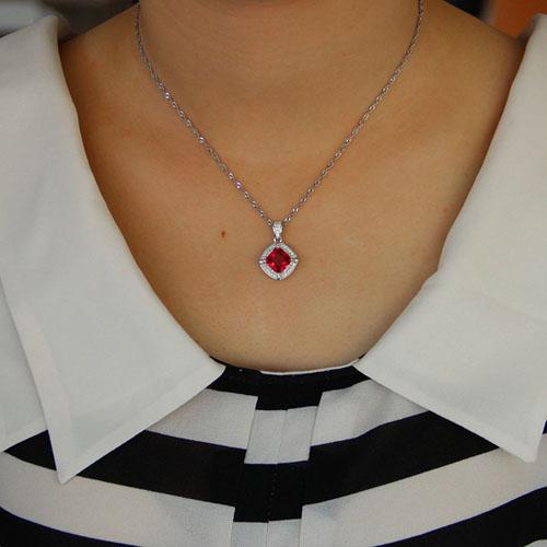 pendentif femme argent zirconium 8301099 pic4