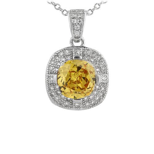 pendentif femme argent zirconium 8301101