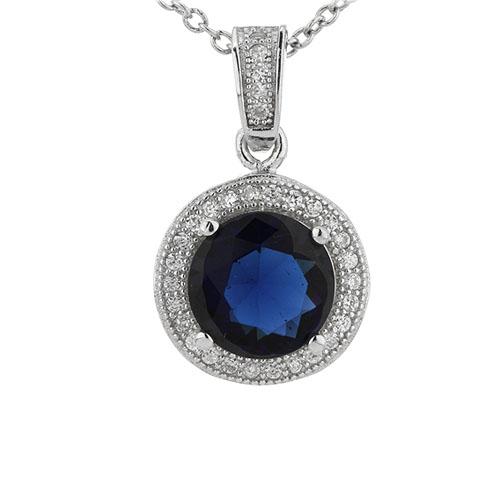 pendentif femme argent zirconium 8301102