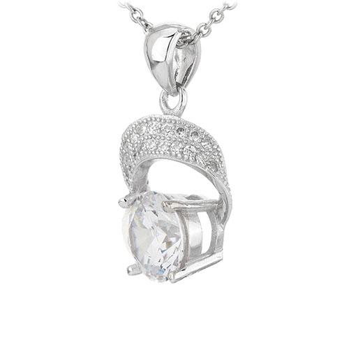 pendentif femme argent zirconium 8301105 pic2