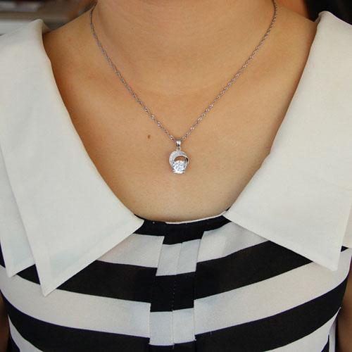 pendentif femme argent zirconium 8301105 pic4