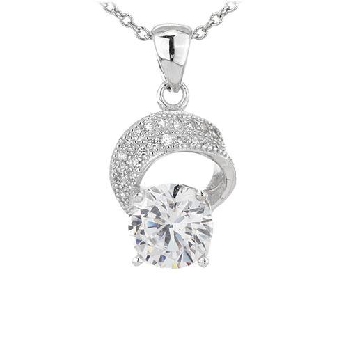 pendentif femme argent zirconium 8301105