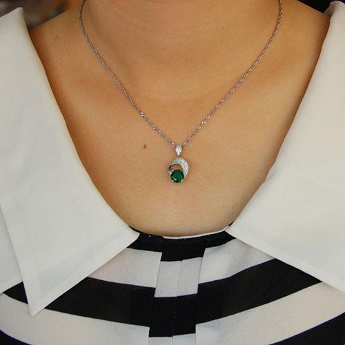 pendentif femme argent zirconium 8301106 pic4