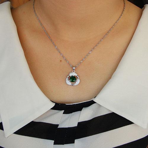 pendentif femme argent zirconium 8301111 pic4