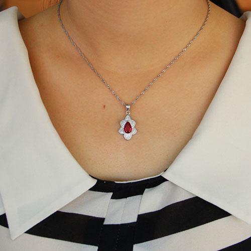 pendentif femme argent zirconium 8301112 pic4