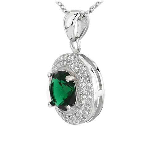 pendentif femme argent zirconium 8301113 pic2