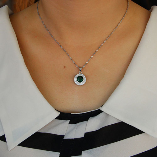 pendentif femme argent zirconium 8301113 pic4