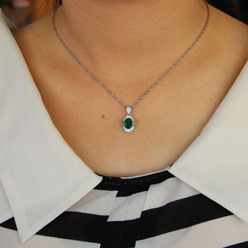 pendentif femme argent zirconium 8301115 pic4