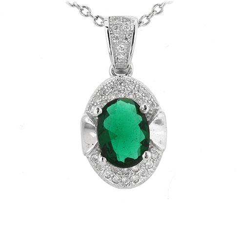 pendentif femme argent zirconium 8301115